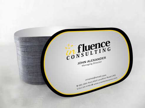 Influence Consulting Business Cards and Stationery  Draft # 161 by Dawson