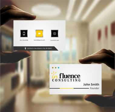 Influence Consulting Business Cards and Stationery  Draft # 163 by Dawson