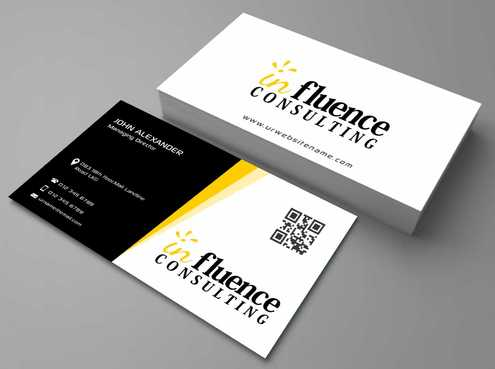 Influence Consulting Business Cards and Stationery  Draft # 164 by Dawson