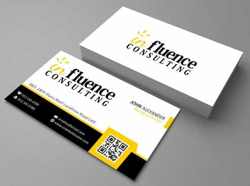 Influence Consulting Business Cards and Stationery  Draft # 165 by Dawson