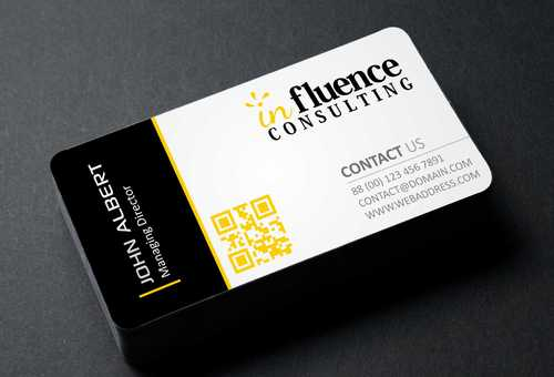 Influence Consulting Business Cards and Stationery  Draft # 166 by Dawson