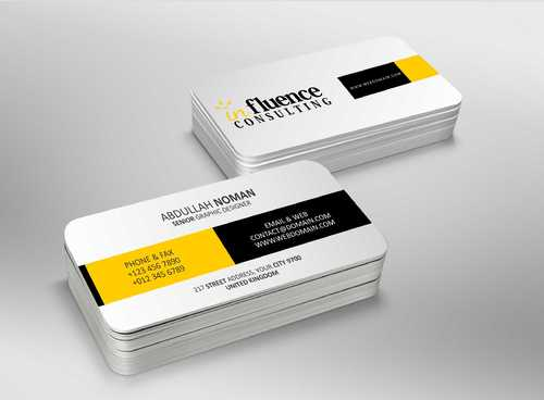 Influence Consulting Business Cards and Stationery  Draft # 167 by Dawson