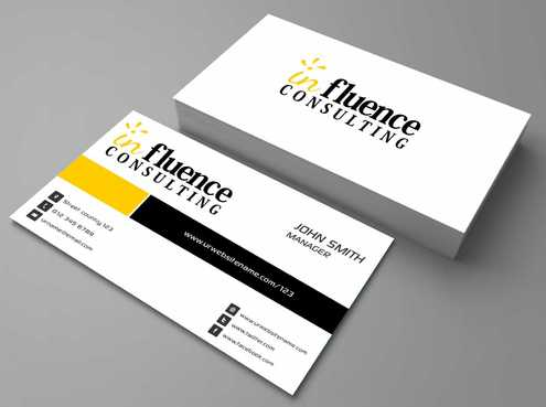 Influence Consulting Business Cards and Stationery  Draft # 169 by Dawson