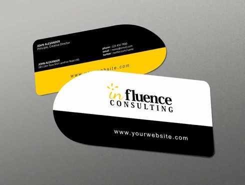 Influence Consulting Business Cards and Stationery  Draft # 170 by Dawson