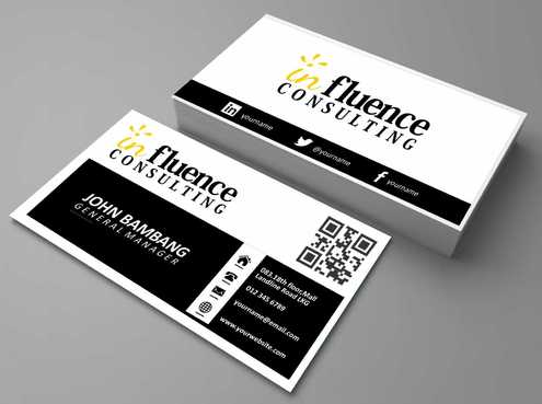 Influence Consulting Business Cards and Stationery  Draft # 171 by Dawson