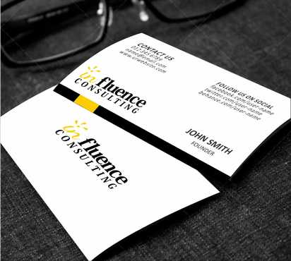 Influence Consulting Business Cards and Stationery  Draft # 172 by Dawson