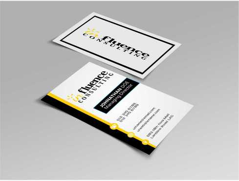 Influence Consulting Business Cards and Stationery  Draft # 174 by Dawson