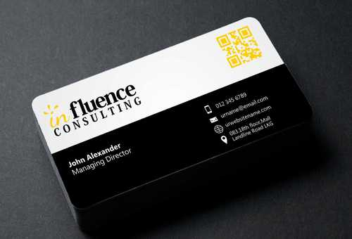 Influence Consulting Business Cards and Stationery  Draft # 175 by Dawson