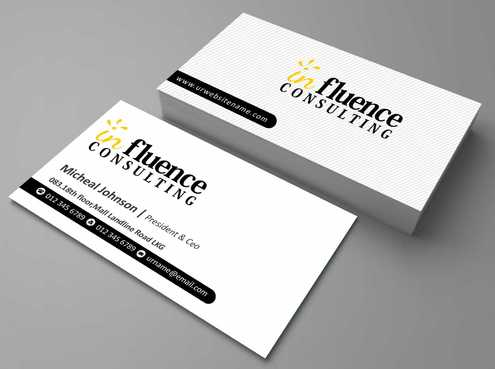 Influence Consulting Business Cards and Stationery  Draft # 176 by Dawson