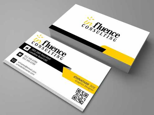 Influence Consulting Business Cards and Stationery  Draft # 177 by Dawson
