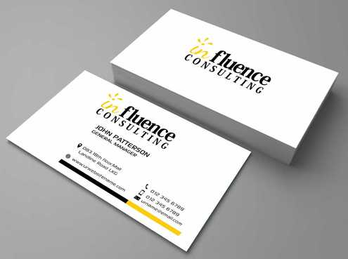Influence Consulting Business Cards and Stationery  Draft # 178 by Dawson