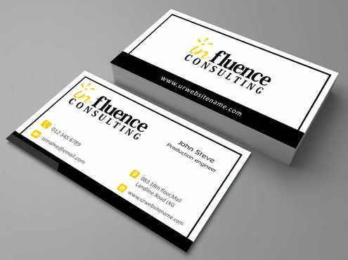 Influence Consulting Business Cards and Stationery  Draft # 179 by Dawson