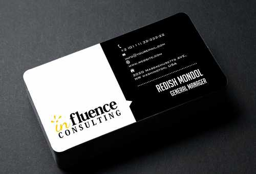 Influence Consulting Business Cards and Stationery  Draft # 180 by Dawson