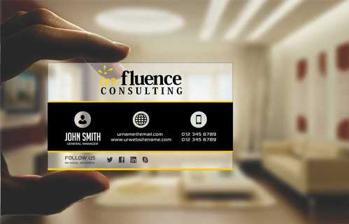 Influence Consulting Business Cards and Stationery  Draft # 181 by Dawson