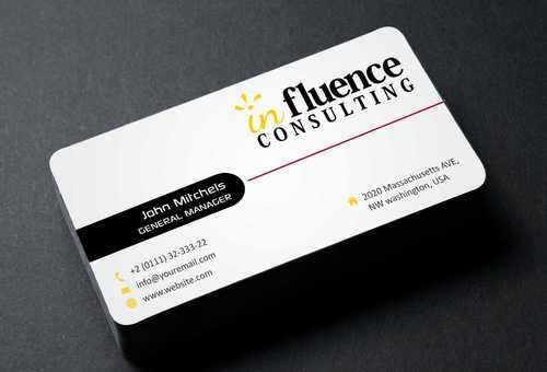 Influence Consulting Business Cards and Stationery  Draft # 182 by Dawson