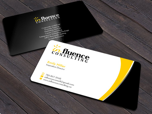 Influence Consulting Business Cards and Stationery  Draft # 219 by Xpert