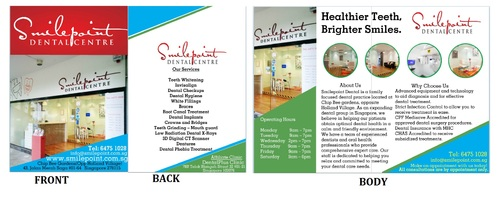 Smilepoint Dental Centre Marketing collateral  Draft # 1 by rockerss13