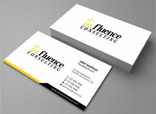 Influence Consulting Business Cards and Stationery  Draft # 221 by Dawson