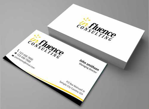Influence Consulting Business Cards and Stationery  Draft # 223 by Dawson