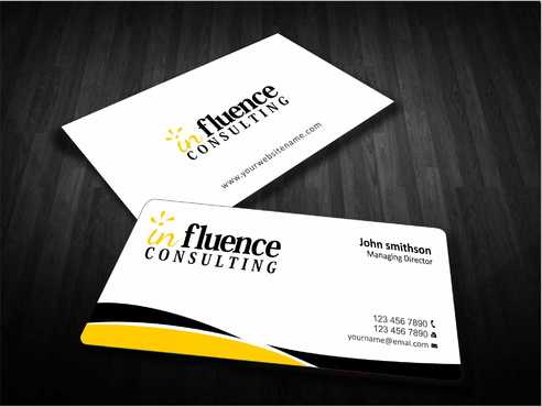 Influence Consulting Business Cards and Stationery  Draft # 224 by Dawson