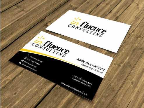 Influence Consulting Business Cards and Stationery  Draft # 225 by Dawson