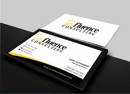 Influence Consulting Business Cards and Stationery  Draft # 226 by Dawson