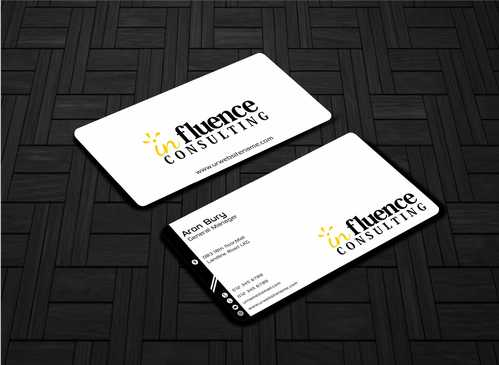 Influence Consulting Business Cards and Stationery  Draft # 227 by Dawson