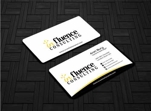 Influence Consulting Business Cards and Stationery  Draft # 228 by Dawson