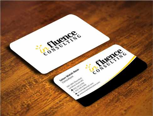 Influence Consulting Business Cards and Stationery  Draft # 229 by Dawson