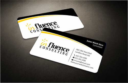 Influence Consulting Business Cards and Stationery  Draft # 230 by Dawson