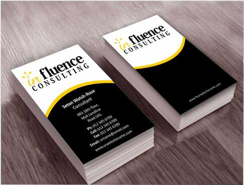 Influence Consulting Business Cards and Stationery  Draft # 231 by Dawson