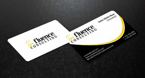 Influence Consulting Business Cards and Stationery  Draft # 233 by Dawson