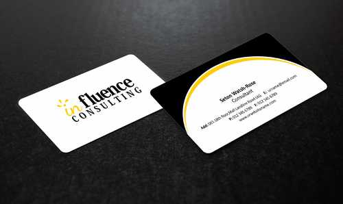Influence Consulting Business Cards and Stationery  Draft # 234 by Dawson