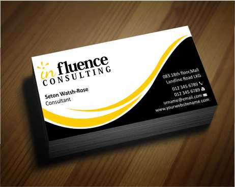 Influence Consulting Business Cards and Stationery  Draft # 235 by Dawson