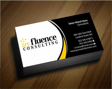 Influence Consulting Business Cards and Stationery  Draft # 236 by Dawson
