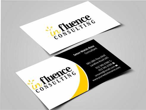 Influence Consulting Business Cards and Stationery  Draft # 237 by Dawson