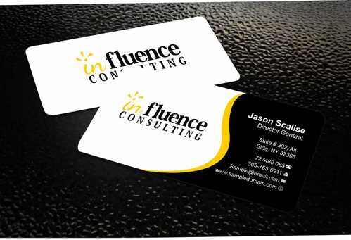 Influence Consulting Business Cards and Stationery  Draft # 241 by Dawson