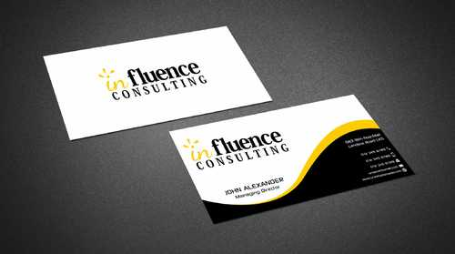 Influence Consulting Business Cards and Stationery  Draft # 242 by Dawson