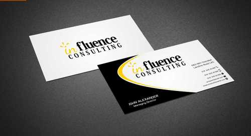 Influence Consulting Business Cards and Stationery  Draft # 243 by Dawson