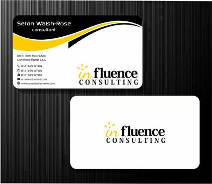 Influence Consulting Business Cards and Stationery  Draft # 245 by Dawson