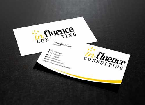 Influence Consulting Business Cards and Stationery  Draft # 246 by Dawson