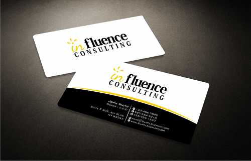 Influence Consulting Business Cards and Stationery  Draft # 247 by Dawson