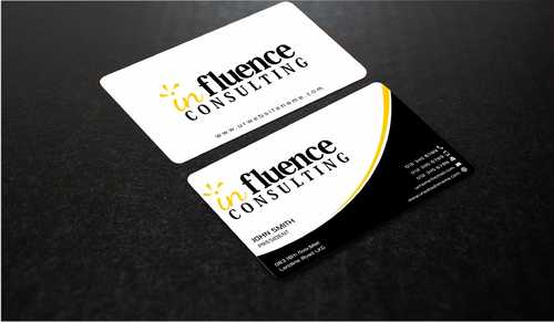 Influence Consulting Business Cards and Stationery  Draft # 248 by Dawson