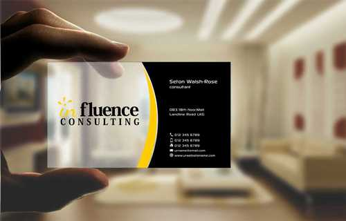 Influence Consulting Business Cards and Stationery  Draft # 249 by Dawson
