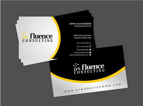 Influence Consulting Business Cards and Stationery  Draft # 250 by Dawson