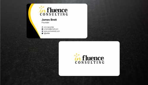 Influence Consulting Business Cards and Stationery  Draft # 252 by Dawson