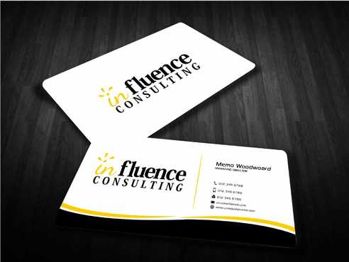 Influence Consulting Business Cards and Stationery  Draft # 253 by Dawson