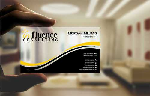 Influence Consulting Business Cards and Stationery  Draft # 254 by Dawson