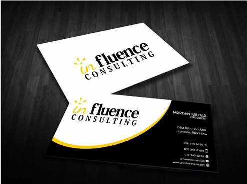 Influence Consulting Business Cards and Stationery  Draft # 255 by Dawson