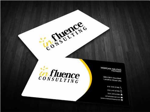 Influence Consulting Business Cards and Stationery  Draft # 256 by Dawson